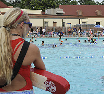 Hire a lifeguard for a pool party on long island