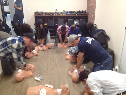 CPR part of Red Cross Responding to Emergencies class